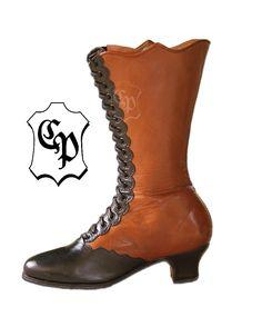 Femme Lacets Bottes de style gothique Steampunk neovictorianisch Victorien en cuir véritable - - Schwarz/Braun,: Amazon.fr: Chaussures et Sacs