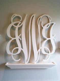 Just ordered one of these - go check them out!! Lots of sizes to choose from! Wooden Monogram 18 by HappyClamMonogram on Etsy, $46.00