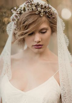 veil with flowers - Google Search