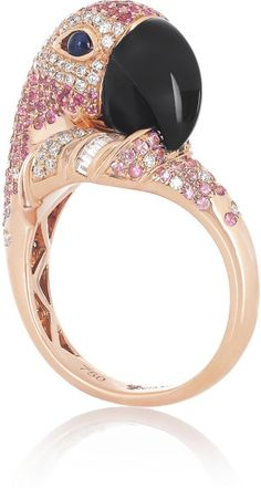 Love this: Parrot 18karat Rose Gold Multistone Ring @Lyst