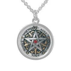 AURA ENHANCER SPIRITUS TALISMAN {Sterling Silver} STERLING SILVER AURA ENHANCER PENDANT NECKLACE A QUALITY PRODUCT FROM ZAZZLE USA A LEADER IN SUPERIOR CRAFTSMANSHIP