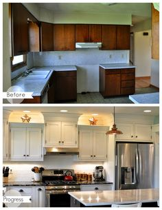 A Nurse And A Nerd: Housiversary House Tour! This couple has done an amazing job on their house reno. Kitchen Soffit, Kitchen Redo, New Kitchen, Kitchen Remodel, Kitchen Cabinets, Kitchen Cupboard, Kitchen Ideas, Kitchen Renovations, White Cabinets