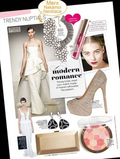 LouLou March 2013 - Press pages @ Merx Inc. Match Making, March 2013, Toronto, Peplum Dress, How To Make, How To Wear, Fashion Jewelry, Glamour, Magazine