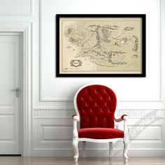 Middle Earth map print, Vintage Style Map, Middle Earth, Lord of the Rings, Books Lovers Art, Home Decor, Lord of The Rings, Map fine art