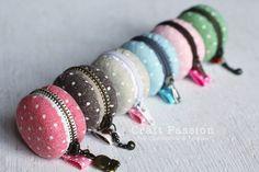 DIY : Macaron purses in fabric diy  with Knit Craft