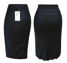 "ru / Lenchik-O - The album ""SKIRTS (models, sketches)"" Grey Fashion, Work Fashion, Fashion Outfits, Pencil Skirt Outfits, African Fashion Dresses, Classy Dress, Work Attire, Work Wear, Dress Skirt"