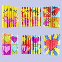 Zickzack-Bilder mit Motiven zum Thema Freundschaft Math Art, Science Art, Picasso Kids, Pop Art, Mothers Day Drawings, 6th Grade Art, Art Worksheets, Middle School Art, Art Lessons Elementary