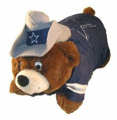 Dallas Cowboys NFL Bear Pillow Pet - GREAT GIFT by Pillow Pets. $33.95. Dallas Cowboys NFL Bear Pillow Pet - GREAT GIFT Few things compare to the comfort and companionship of a soft, cuddly Officially Licensed stuffed animal. Pillow Pets plush folding stuffed animals add true function to that warm and wonderful feeling by combining the security of a stuffed animal with the functionality of a pillow. Made of high quality, super soft chenille, Pillow Pets plush folding stuffed anim...
