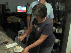 #Miami 2012. Lyliam en pleno proceso de preparacion, quejose que no le di tiempo de prepararse para la foto