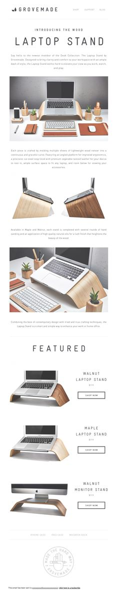 Introducing The Wood Laptop Stand