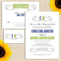 Molly Wedding Invitation Suite. $35.00, via Etsy.