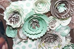 up close with the rolled paper flowers