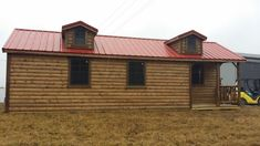 Wildcat Barns sells and offers RENT TO OWN high quality Amish log cabins, with or without finished interior Shed House Plans, House Floor Plans, Shed Homes, Log Homes, Prefab Log Cabins, Two Bedroom Tiny House, Amish Cabins, Lofted Barn Cabin, Backyard Cabin