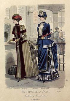 El salón de la moda, Barcelona. 1884.