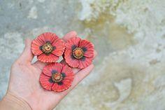 Makový květ - brož