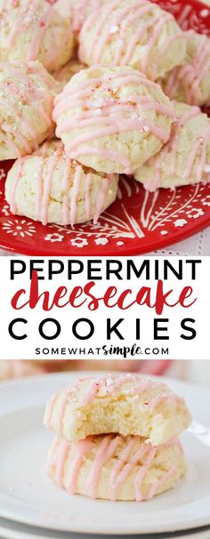 These soft and tender peppermint cheesecake cookies have an amazing cheesecake flavor, and the perfect hint of peppermint!