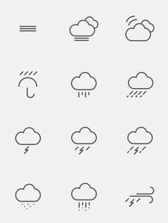 Free Weather Icons by s-pov , via Behance