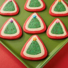 Christmas Tree Slice & Bake Cookies | Land O'Lakes. So adorable! Dare I try them?