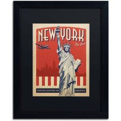 Trademark Fine Art New York, New York II Canvas Art by Anderson Design Group, Black Matte, Black Frame, Size: 16 x 20
