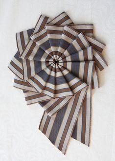 Ribbon Cockade - Striped Vintage Ribbon - Large Cocarde Ornament  by Silverhill Creative, $20.00