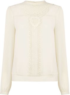 Womens cream blouse from Oasis - £48 at ClothingByColour.com