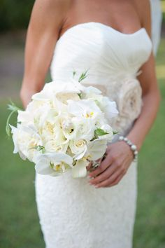 white orchid + rose bouquet   Nate Henderson #wedding