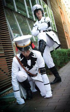 Team Hoshishiro ( Aoharu x Machinegun) Cosplay FraudFairy.deviantart.com on @DeviantArt
