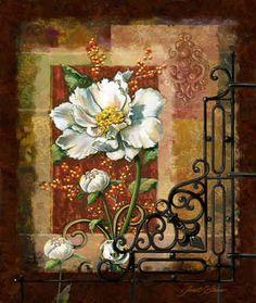 """Regal White Peony"" / Janet Stever"