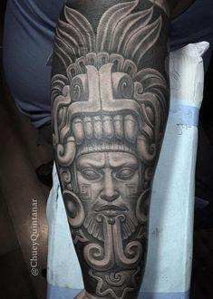 50 Of The Best Aztec Tattoos Aztec Tattoo Chuey Quintanar Jaguar Tattoo, Mayan Tattoos, Mexican Art Tattoos, Aztec Tattoos Sleeve, Tribal Tattoos, Aztec Tattoo Designs, Tattoo Sleeve Designs, Chicano Art Tattoos, Body Art Tattoos