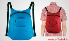 SILO Back Pack Foldable Compact Reusable Bag at Rs.199