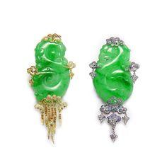Fei Liu Cloud Wind Jadeite Earrings Jade Jewelry High Luxury