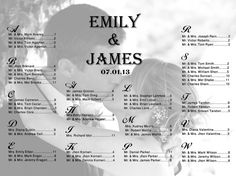 Wedding Seating Chart with Photo for Your Reception  by PartyJony, $29.00