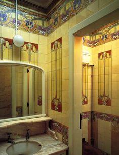 Art Nouveau Style Bathroom in Russia. Ванная комната в стиле модерн в России.新艺术风格浴室在俄罗斯。