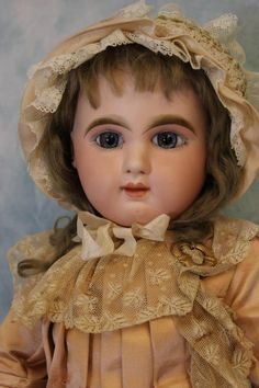 "Antique 24"" French Bisque Bebe Mascotte Doll by Jules Steiner c.1890 Superb!"