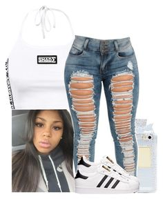 """▫▫"" by xtiairax ❤ liked on Polyvore featuring adidas"