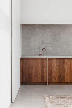 Penthouse Westkaai Interior Kitchen Concrete Rustical Wood