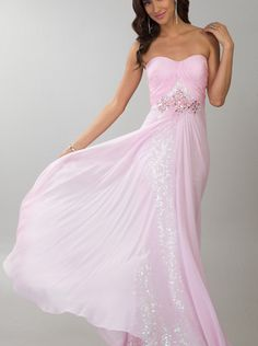 A-line Pink Chiffon Strapless Formal Dress/ Prom Dress Cocktail Dress Dave & Johnny 10184