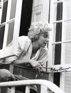 """Marilyn on the set of """"The Seven Year Itch"""". Photo by George Barris, 1954."""