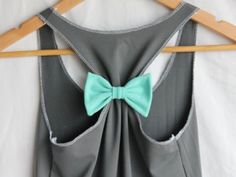 Tank top with bow back.