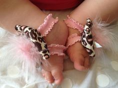 Adorable Bow Toes for Baby  Baby Pink Leopard by HauteHarper, $10.00#Repin By:Pinterest++ for iPad#