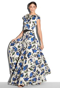 5d1b8afd43374c BLOSSOM PRINT BIAS TUCKED BALL SKIRT Wicked Clothing, Ball Skirt,  Conservative Fashion, Smart