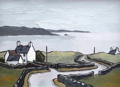 North Coast of Anglesey by British Contemporary Artist David BARNES English Artists, British Artists, Coastal Art, Traditional Paintings, Art For Art Sake, Beach Art, Watercolor Art, Illustration Art, Folk Art
