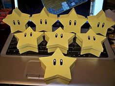 Mario Party - star treat boxes - paint $1 box from Michaels