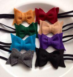 Pick any one Felt Hair Bow Headband / Hair Clip by MiShaMeDesigns