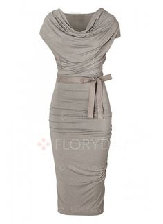 Vestidos - $40.99 - Vestidos Poliéster Llanura Hasta las rodillas Manga corta (1955120489)