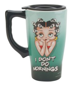 Betty Boop 'I Don't Do Mornings' Travel Mug | Daily deals for moms, babies and kids