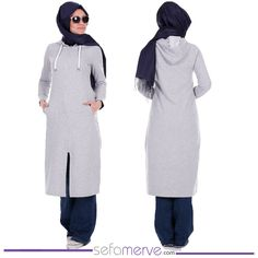 Hooded Top Tunic 0764-06 #sefamerve #islamicclothing #hijabstyle #hijab…