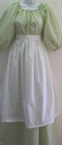 Colonial Costume Prairie Pioneer Dress Bonnet Apron Set Adult Small to Med | eBay
