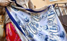 Delicate vintage Hermes Cliquetis scarf