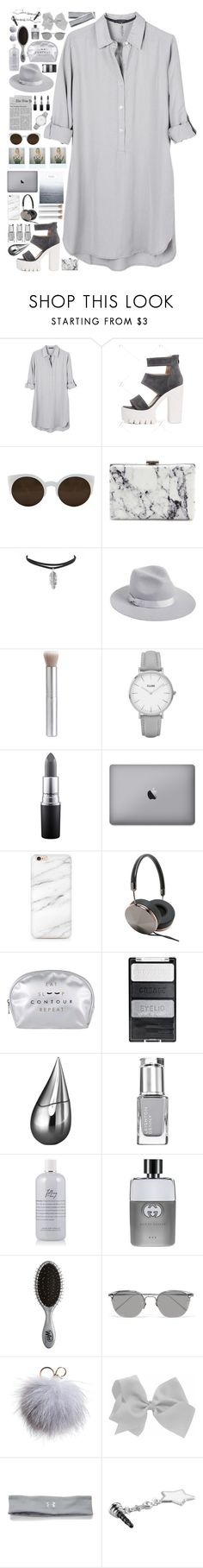 """The rule of freedom"" by timeless0trends ❤ liked on Polyvore featuring United by Blue, RetroSuperFuture, Balenciaga, Lack of Color, Topshop, MAC Cosmetics, Frends, La Prairie, Gucci and The Wet Brush"
